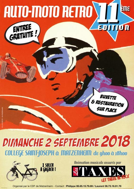 11ème édition de l'auto moto retro le dimanche 2 septembre